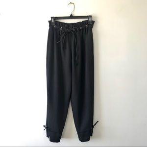 Club Monaco Cropped Tie Waist Culottes Crop Pants